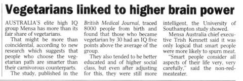 Vegetarians-linked-to-higher-brain-power