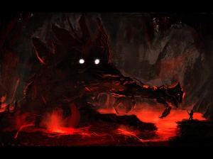 Cave_monster_speedpainting_by_Dekus