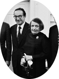 Alan Greenspan and Ayn Rand at the White House after Greenspan was sworn in as chairman of Gerald Ford's Council of Economic Advisers, September 1974